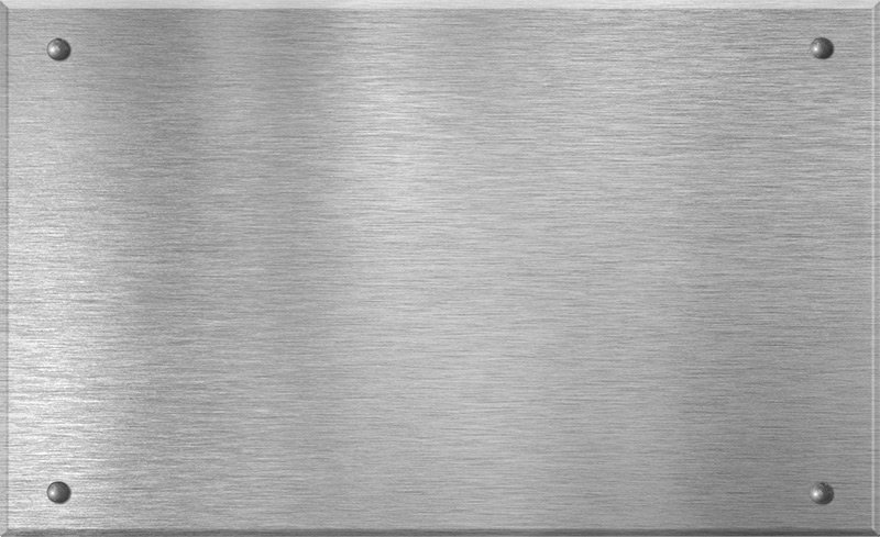 Aluminiumschild mit Gravur